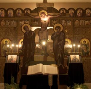 Inside the church on Holy Friday.