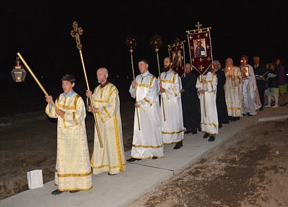 The procession during the Resurrection services.