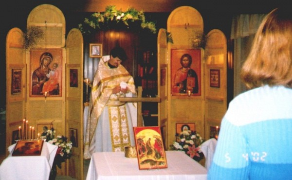 Pascha in the early days of St. Anthony Orthodox Mission.