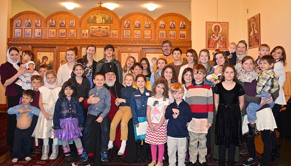 Parish children and youth with Archbishop BENJAMIN.