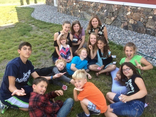 Parish children and youth hang out after Sunday Liturgy.