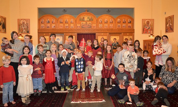 Children and youth celebrate St. Nicholas Day.